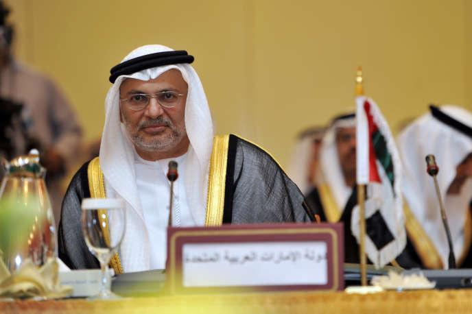Le ministre d'Etat des affaires étrangères des Emirats arabes unis, Anwar Gargash, à Djeddah en 2010.