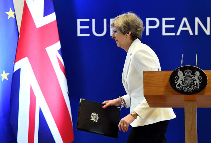 Theresa May, le 23 juin à Bruxelles.