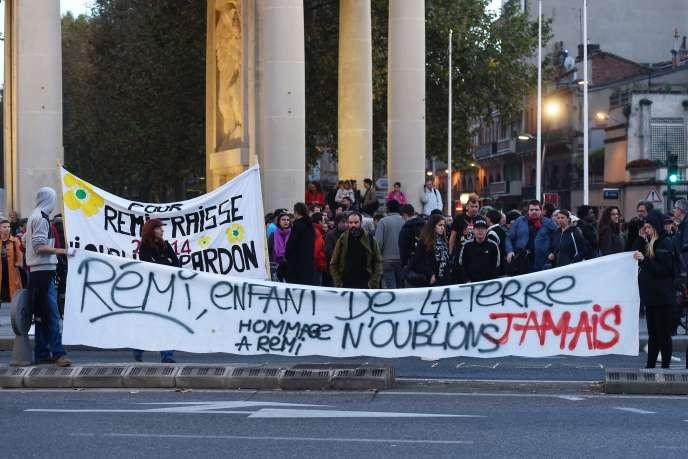 Manifestation en hommage à Rémi Fraisse, le militant écologiste mort à Sivens (Tarn), à Toulouse, en 2017.