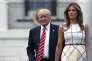 Donald Trump et Melania Trump à la Maison blanche, le 22 juin.