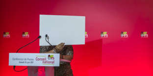 Point presse après le conseil national du PS, au siège de la rue de Solférino à Paris, samedi 24 juin.