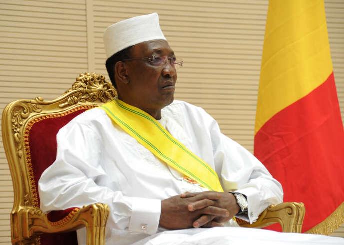 Le président tchadien, Idriss Déby, le 8 août 2016, àN'Djamena.