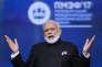 Le premier ministre indien Narendra Modi au Forum économique international de Saint-Pétersbourg (SPIEF), en Russie, le 2 juin 2017.