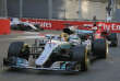 La rivalité entre la Mercedes de Lewis Hamilton (au premier plan) et la Ferrari de Sebastian Vettel a atteint des sommets sur le circuit de Bakou.
