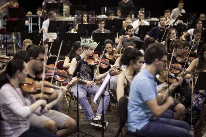 Session symphonique de l'Orchestre des jeunes de la Méditerranée, en 2016.
