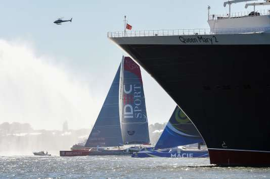 Le départ de The Bridge a été donné dimanche 25 juin de Saint-Nazaire. / AFP / JEAN-SEBASTIEN EVRARD