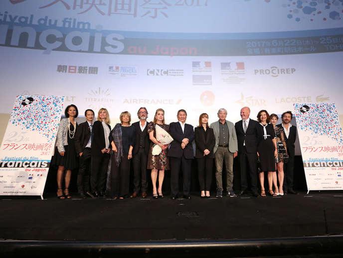 La soirée d'ouverture du 25e Festival du film français au Japon, à Tokyo le 22 juin, en présence, notamment de l'actrice Catherine Deneuve.