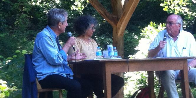 Gilles Clément, Ruth Stégassy et Francis Hallé, lors du débat du 16 juin.