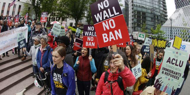 Manifestation contre le décret migratoire de Donald Trump à Seattle, le 15 mai.