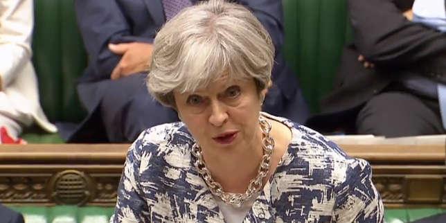 La première ministre britannique, Theresa May, le 26 juin à la Chambre des communes.