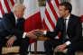 Donald Trump et Emmanuel Macron lors de leur rencontre à Bruxelles, le 25 mai.
