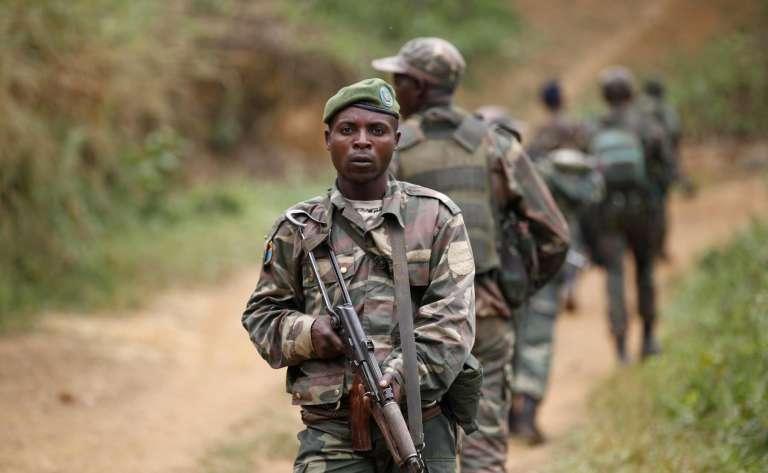 Des militaires congolais en décembre 2013.