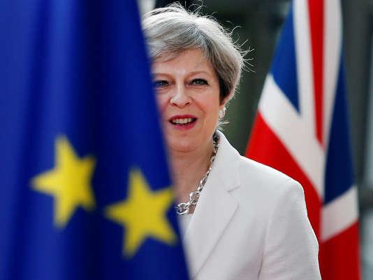 Theresa May lors du Conseil européen, à Bruxelles, le 23 juin.
