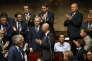 François de Rugy, applaudi comme nouveau président de l'Assemblée nationale, le 27 juin.