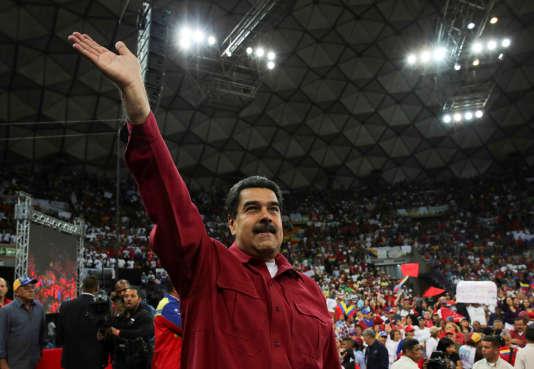 Nicolas Maduro lors d'un meeting en vue des élections constituantes, le 27 juin à Caracas.