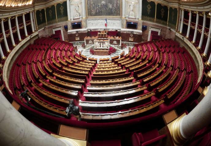 Dans l'Hémicycle de l'Assemblée nationale, à Paris