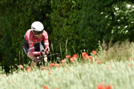 AndréCardoso lors de la 69e édition du Critérium du Dauphiné, le 7 juin.