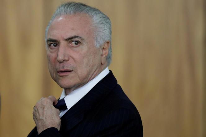 Le président brésilien Michel Temer à Brasilia, le 26 juin.