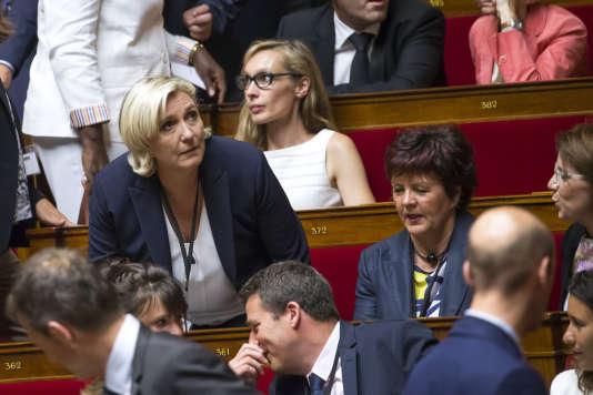 Marine Le Pen, à l'Assemblée nationale, le mardi27 juin 2017.