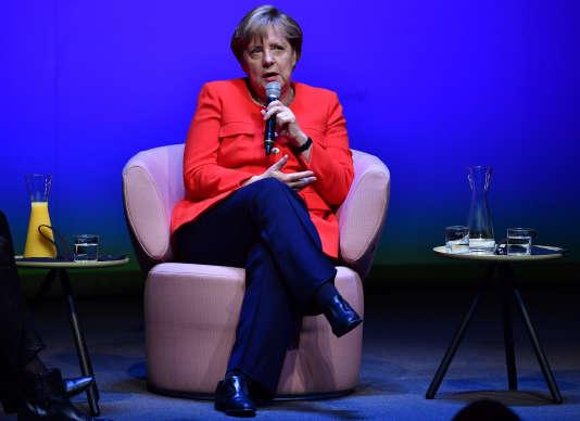 La chancelière allemande, Angela Merkel, lors d'un entretien au magazine« Brigitte», le 26 juin à Berlin.