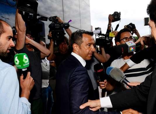 Jorge Mendes, le 27 juin, avant son audition par la justice espagnole.