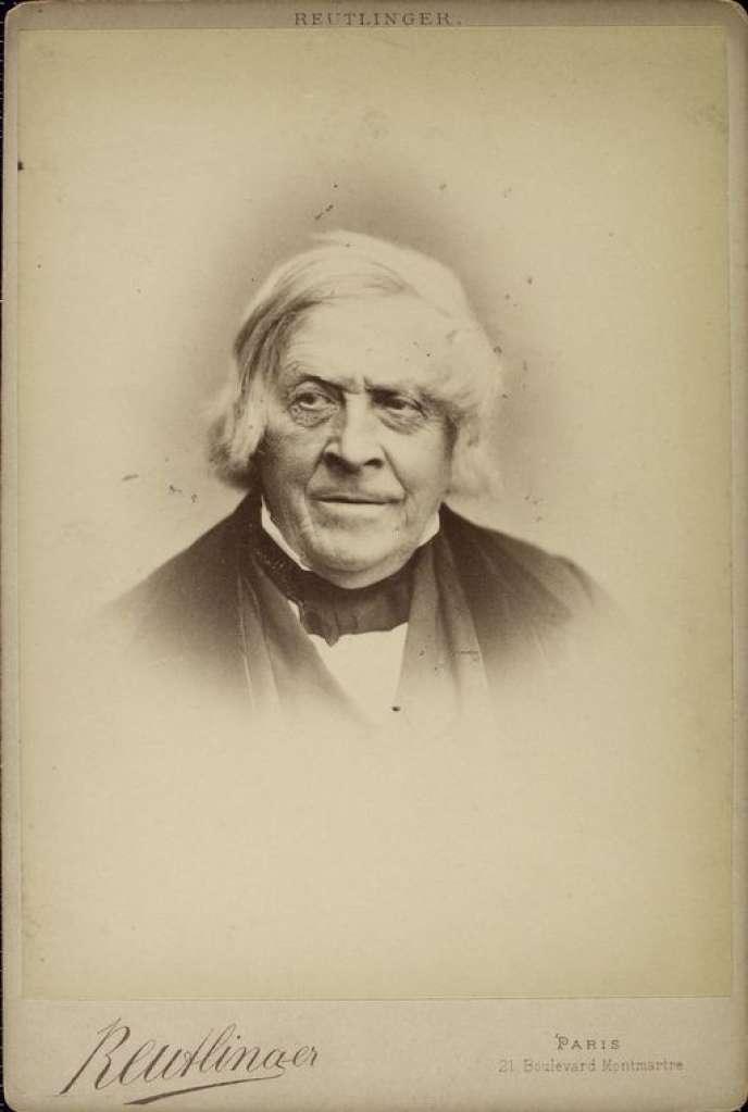 L'historien Jules Michelet, vers 1870.