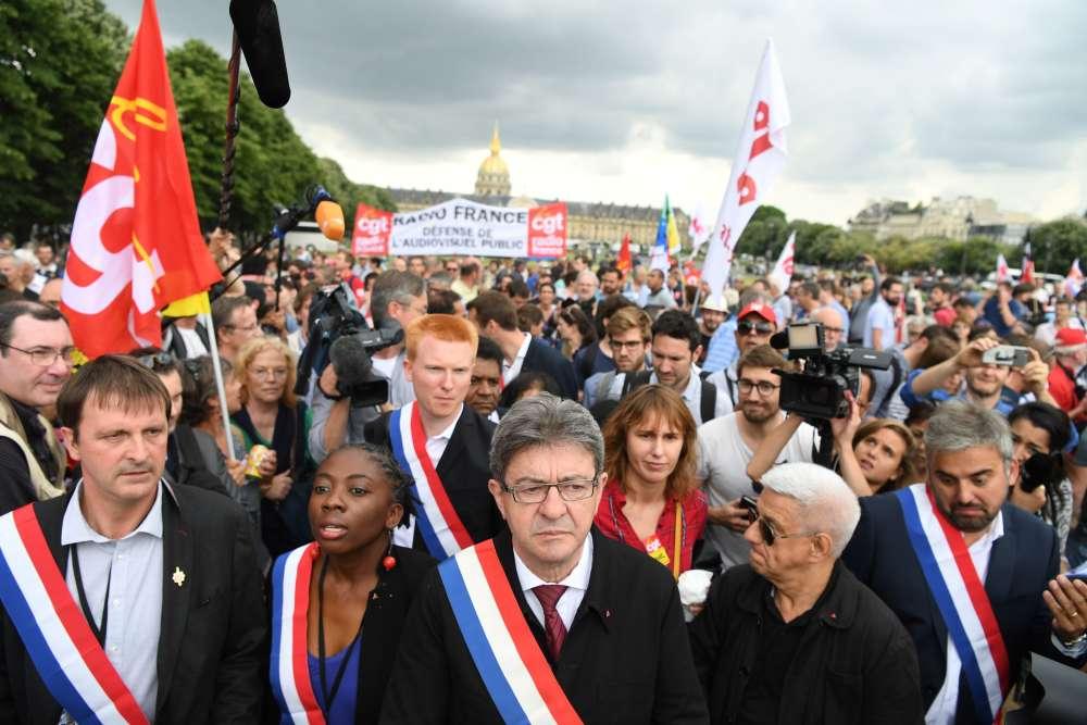 Jean-Luc Mélenchon a été élu à «l'unanimité»mardi 27 juin à la tête des députés de La France insoumise.