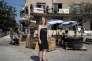 Geneviève Fontaine devant les locaux du programme Tetris, à Grasse (Alpes-Maritimes), les 13 juin.
