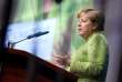 La chancelière allemande Angela Merkel,lors d'un congrès économique organisé par son parti l'Union chrétienne-démocrate (CDU) à Berlin, le 27 juin.