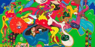 «Saigon»(1967), acrylique, huile, émail et encre sur toile, au Whitney Museum of American Art.