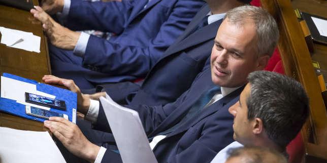 François de Rugy participe à la première séance de la 15elégislature à l'Assemblée nationale à Paris, mardi 27 juin 2017.