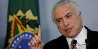 Michel Temer, le 27 juin à Brasilia.