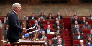 Claude Bartolone présidant l'Assemblée nationale.