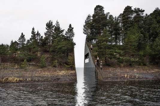 Une vue du projet en 3Dde l'artiste suédoisJonas Dahlberg, en mémoiredes victimes de la tuerie.