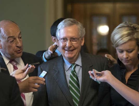 Le chef de file de la majorité républicaine au Sénat, Mitch McConnell, au Capitole à Washington (Etats-Unis), le 27juin.