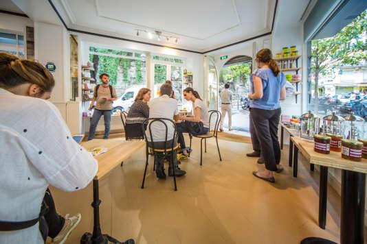 La première Maison du zéro déchet ouvre ses portes à Paris le 1er juillet avec une boutique, un café, un espace de formation et les bureaux de l'association Zero Waste France. Photo : STEFANO BORGHI