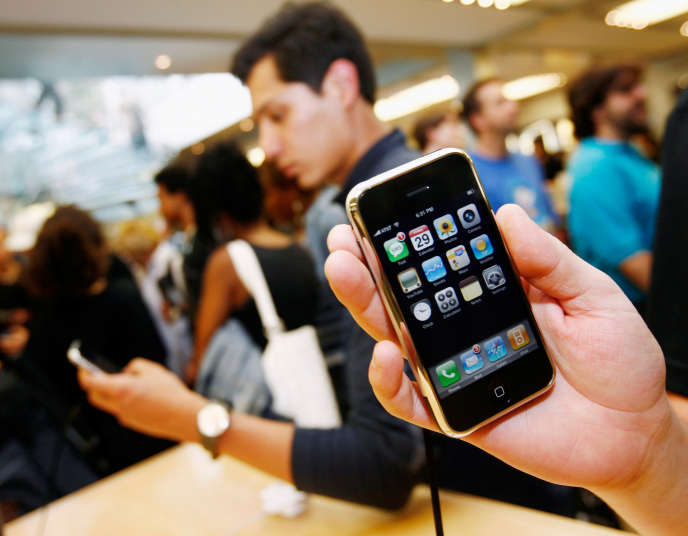 Apple Store à New York, le 29 juin 2007.
