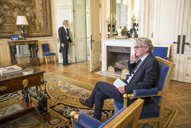 Jean-Claude Mailly, secrétaire général de FO, à l'Elysée, le 23mai.