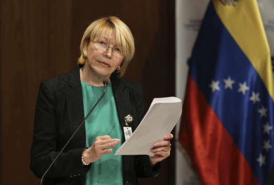 La procureure générale du Venezuela Luisa Ortega à Caracas, le 28 juin.