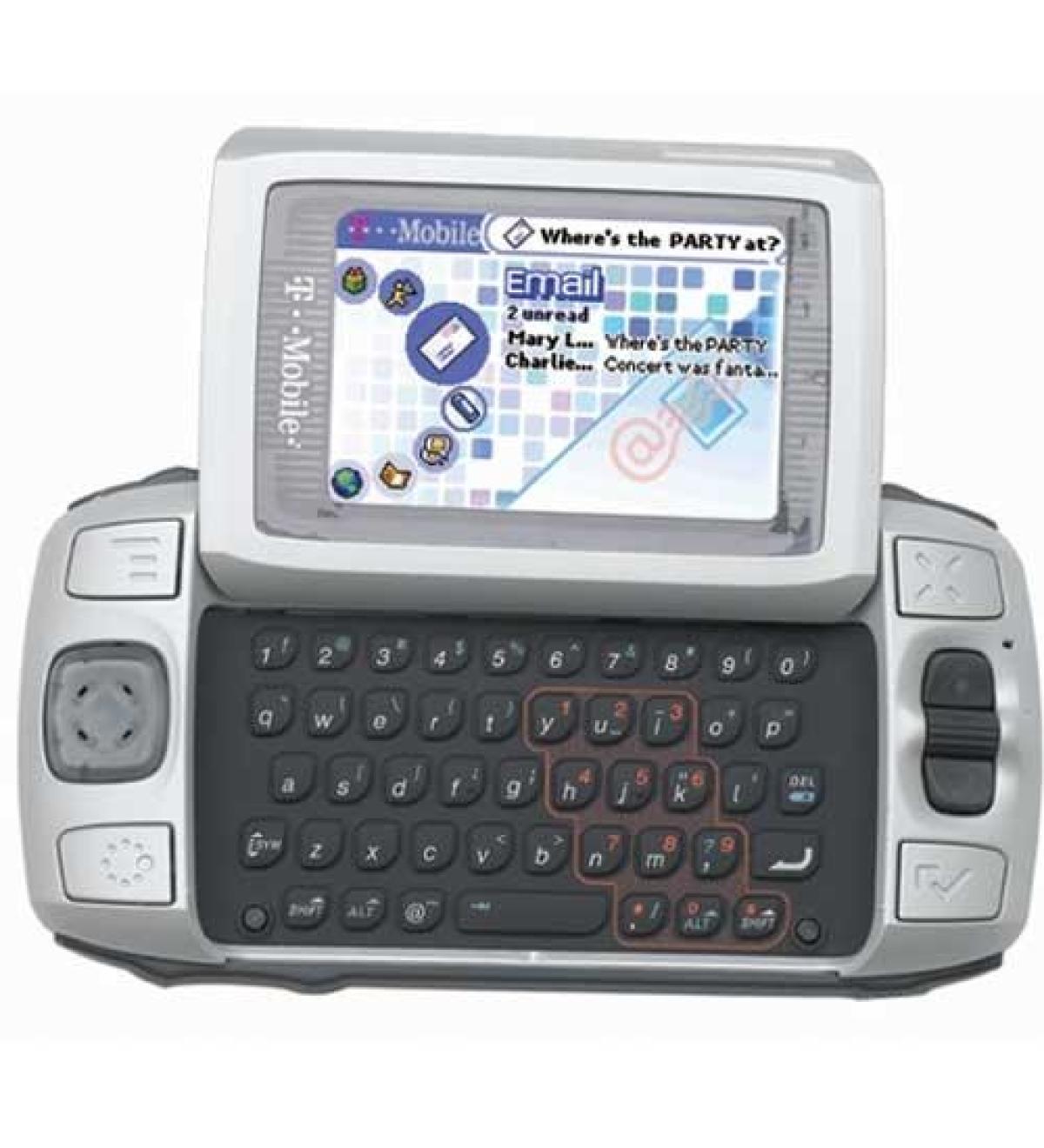 L'ancêtre d'Android, le Sidekick. Ce mobile a été conçu par la startup d'Andy Rubin et commercialisé en 2002 par T-mobile aux Etats-Unis.