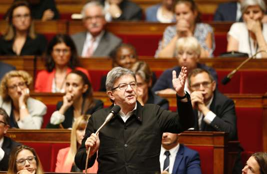 Jean-Luc Mélenchon, à l'Assemblée nationale, le 28 juin 2017.