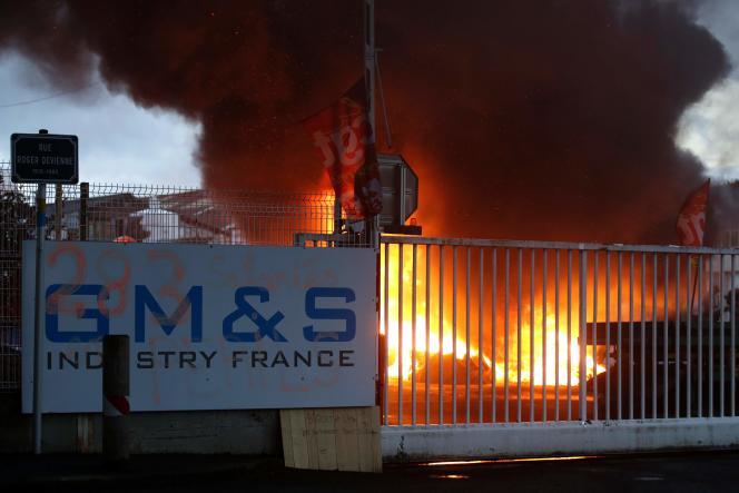Sur le site de GM&S à La Souterraine (Creuse), le 28 juin.