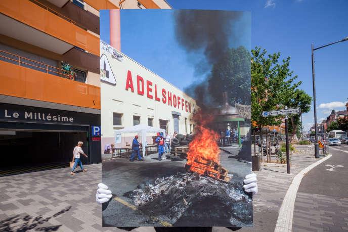 A Schiltigheim, l'ancien site Adelshoffen. La brasserie a vécu ses dernières heures en 2000, malgré les actions des employés contre la décision du géant Heineken, qui avait racheté l'entreprise.