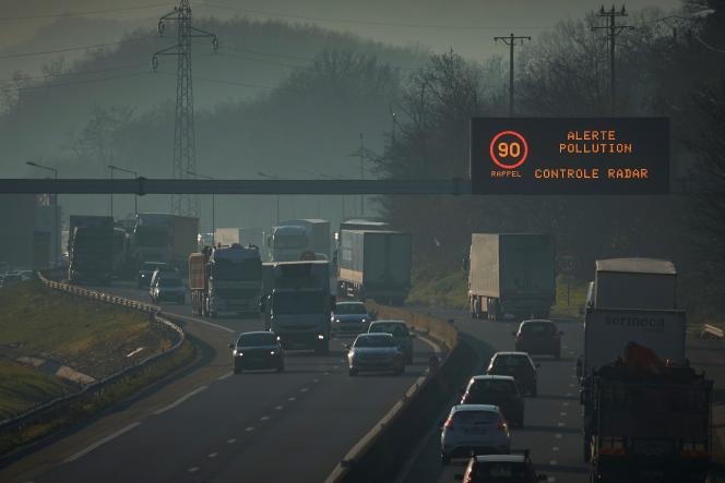 Sur l'A47, près de Lyon, en décembre 2016.