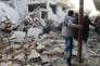 Al-Mayadin doit à ce déluge de feu à sa réputation peu enviable de nouvelle « capitale administrative » de l'Etat islamique après le redéploiement de centaines de combattants djihadistes, alors que Mossoul, en Irak, et surtout Rakka (ci-dessus), en Syrie, sont sur le point d'être reprises à l'organisation.