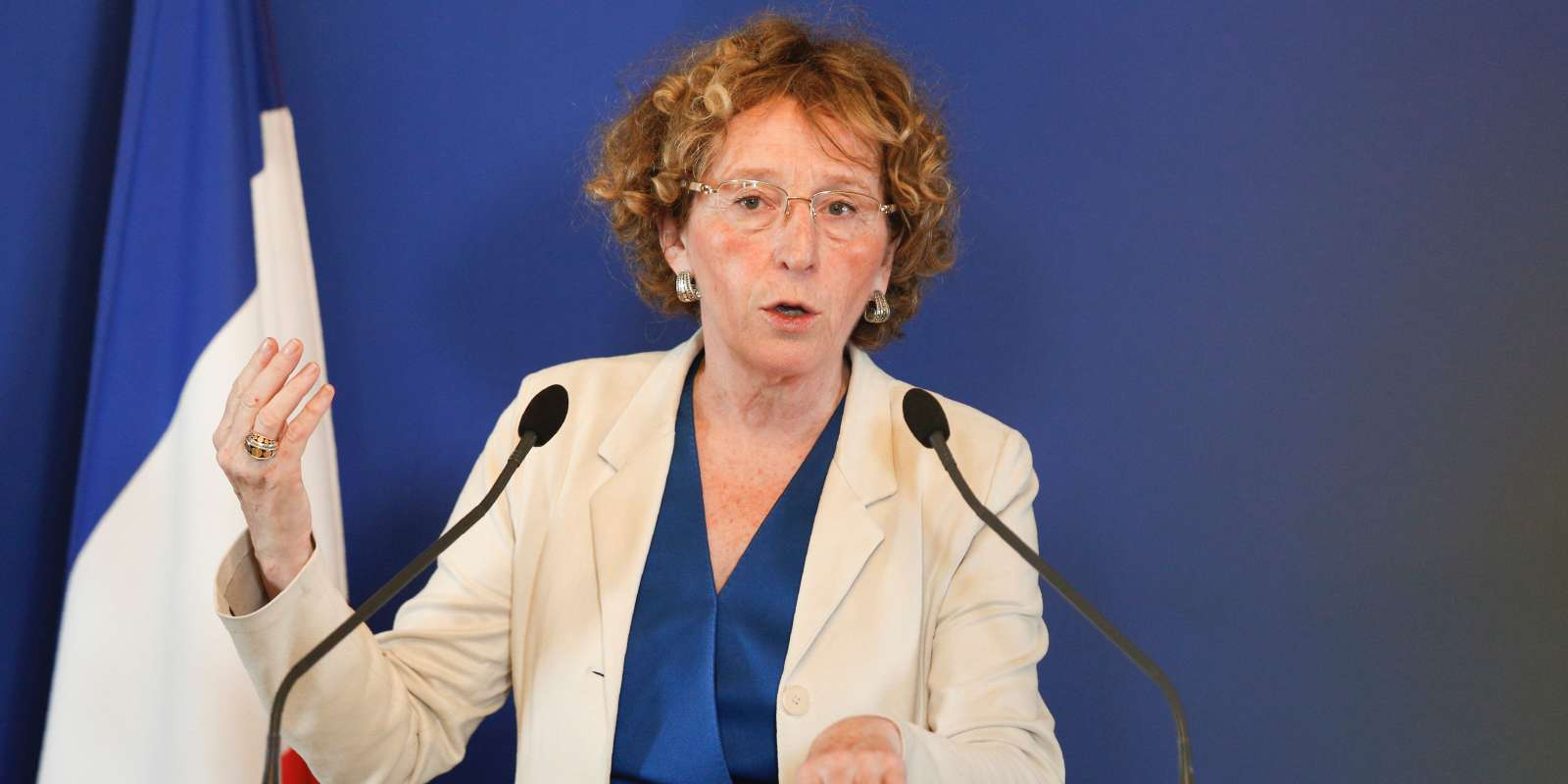 La ministre du travail Muriel Pénicaud donne une conférence de presse, le 28 juin.