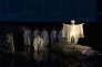 «Antigone», mise en scène par Satoshi Miyagi pour l'ouverture du Festival d'Avignon 2017.