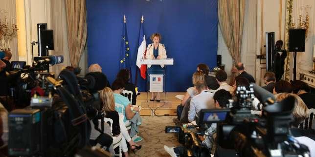 Muriel Penicaud en conférence de presse le 28juin.