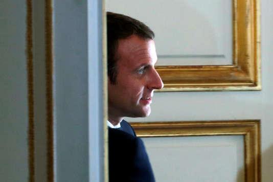 Le président Emmanuel Macron au palais de l'Elysée, à Paris le 26 juin.