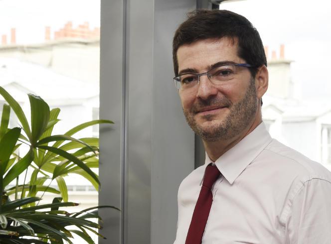 Nicolas Théry, le président de la fédération Centre Est Europe à Strasbourg et de la Confédération nationale du Crédit mutuel, en août 2016, à Paris.